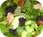 Warm Black Pudding and Prawn Salad