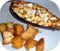 Papoutsakia & Lemon Potatoes - Little Shoes - Stuffed Aubergines